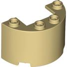 LEGO Tan Cylinder Half 2 x 4 x 2 with Cutout (35402)