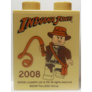 LEGO Duplo Brick 1 x 2 x 2 with Indiana Jones, 2008, and Legoland Windsor without Bottom Tube (4066)