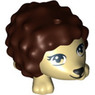 LEGO Tan Hedgehog with Dark Brown Spikes (12878 / 19987)