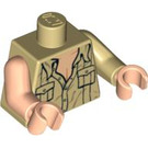 LEGO Tan Indiana Jones with Open Shirt and Open Mouth Grin Torso (76382)