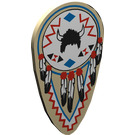 LEGO Tan Minifig Shield Ovoid with American Indian