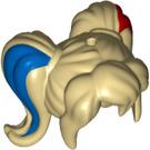 LEGO Tan Minifigure Figure Hair Pigtails (29397)