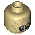 LEGO Tan Mouth of Sauron Head (Recessed Solid Stud) (14652)