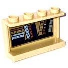 LEGO Tan Panel 1 x 4 x 2 with Bookshelf (horizontal pile of books left)  Sticker