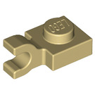 LEGO Tan Plate 1 x 1 with Horizontal Clip (Flat Fronted Clip) (6019)