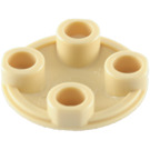 LEGO Tan Plate 2 x 2 Round with Rounded Bottom (2654)