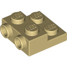 LEGO Tan Plate 2 x 2 x 2/3 with 2 Studs on Side (99206)
