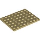 LEGO Tan Plate 6 x 8 (3036)