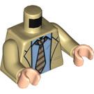 LEGO Tan Ross Geller Minifig Torso (76382)