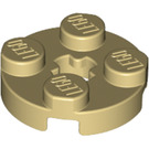 LEGO Tan Round Plate 2 x 2 with Axle Hole (with '+' Axle Hole) (4032)