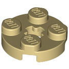 LEGO Tan Round Plate 2 x 2 with Axle Hole (with 'X' Axle Hole) (4032)