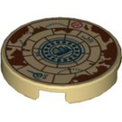 "LEGO Tan Round Tile 2 x 2 with Decoration with ""X"" Bottom (97370)"