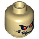 LEGO Tan Scarecrow Plain Head (Recessed Solid Stud) (29301)