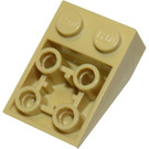 LEGO Tan Slope 2 x 3 (25°) Inverted with Connections between Studs (3747)