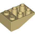 LEGO Tan Slope 2 x 3 (25°) Inverted without Connections between Studs (3747)