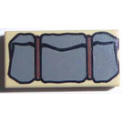 LEGO Tan Tile 1 x 2 with Dark Stone Gray Bedroll with Groove