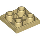 LEGO Tan Tile 2 x 2 Inverted (11203)