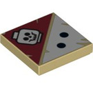 LEGO Tan Tile 2 x 2 with Decoration with Groove (93951)