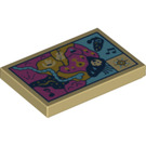 LEGO Tan Tile 2 x 3 with Decoration (67086)