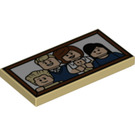 LEGO Tile 2 x 4 with Decoration (38132)
