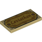 LEGO Tan Tile 2 x 4 with Decoration (38995)