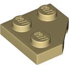 LEGO Tan Wedge Plate 2 x 2 (45º) (26601)