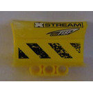 LEGO Technic 4 x 6 Side Flaring Intake with Three Holes with 'XSTREAM, 'CELLFISH' and Black and Yellow Danger Stripes (Model Left) Sticker
