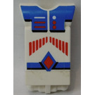 LEGO Technic Action Figure Body Part with Red Stripes and Blue Pattern (2698)