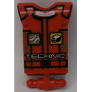 LEGO Technic Action Figure Body Part with 'TECHNIC', Belt and Logos (2698)