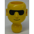 LEGO Technic Action Figure Head with Black Sun Glasses (2707)
