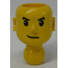 LEGO Technic Action Figure Head with Mouth lopsided, White Pupils (2707)