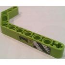LEGO Technic Beam 3 x 3.8 x 7 Beam Bent 45 Double with Black '1', Diagonal Stripes  Sticker (32009)