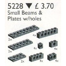 LEGO Technic Beams and Plates with Holes, Black Set 5228