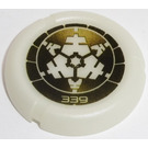 LEGO Technic Bionicle Weapon Throwing Disc with White '339' and White Crystall Decoration (32533)
