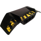LEGO Technic Car Spoiler 3 x 8 with 3 Pin Holes with Danger Stripes and Mud Sticker (61073)