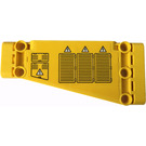 LEGO Technic Panel 5 x 11 Angled with Air Outlet Grilles, Hatches and Electricity Danger Signs Pattern Model Right Side Sticker (18945)