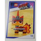LEGO The LEGO Movie 2, Card #13 - Unikitty, Warrior Kitty