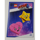 LEGO The LEGO Movie 2, Card #21 - Heart and Star