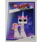 LEGO The LEGO Movie 2, Card #25 - Unikitty as Disco Kitty