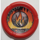 LEGO Throwing Disk with Fire, 2 Pips, Flame Logo (32171)