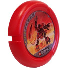 LEGO Throwing Disk with Fire, 3 Pips, Torch Logo (32171)