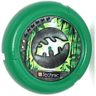 LEGO Throwing Disk with Jungle, 2 Pips, Leaf Logo (32171)