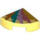 LEGO Tuile 1 x 1 Trimestre Cercle avec Décoration (25269 / 67214)
