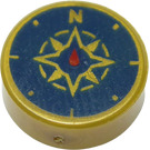 LEGO Tile 1 x 1 Round with Compass Rose (25619 / 98138)