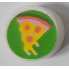 LEGO Tile 1 x 1 Round with Pizza Slice