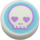 LEGO Tile 1 x 1 Round with Skull (35380)
