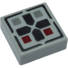 LEGO Tile 1 x 1 with Cross and Buttons with Groove (3070 / 24641)