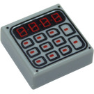LEGO Tile 1 x 1 with Keypad Pattern with Groove (3070 / 25700)