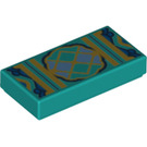 LEGO Tile 1 x 2 with Decoration with Groove (3069 / 67558)