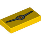 LEGO Tile 1 x 2 with Decoration with Groove (3069 / 94875)